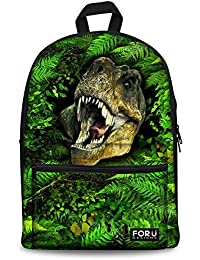 Youngerbaby 14 Inch Casual Lightweight Dinosaur Tiger Animal School Backpack