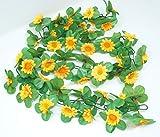 CBK-MS® Blumengirlande Sonnenblumen gelb ~ ca. 120 cm ~ zum verschönern Ihres Fahrrades oder Ihrer Wohnung