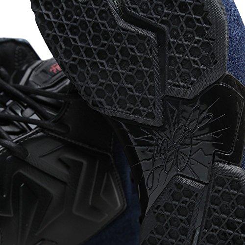 Nike lebron xI 11 eXT qS en denim pour homme basketball chaussures noir blac/black-denim