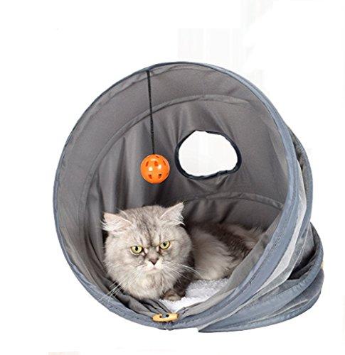 Faltbares Haustier-Katzen-Zelt-Bett-Haus-Schloss-Nest Roll Tunnel Toy (Roll-schlafsack Einfache)