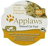 Applaws Cat Juicy Chicken Breast with Duck Pots, 10 x 60 g