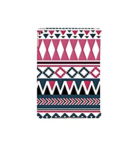 Fuson Designer Back Case Cover for Apple iPad Air 2 :: Apple iPad Air 2 Wi-Fi + Cellular (3G/LTE) :: Apple iPad Air 2 Wi-Fi (Wi-Fi, w/o GPS) (Pink Black Green Blue Triangles rectangles)
