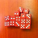 Leisial 100 Stücke Würfel Rot 8mm Würfel Acryl Material Würfel Set 6 Seitige Würfel, Geeignet für Hotels, Bars