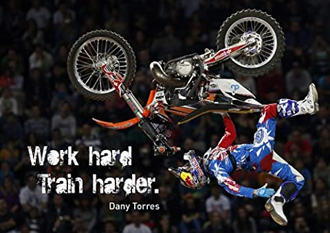 MOTIVATIONAL - Dany Torres 4 - Red Bull X-Fighters - A3 poster - print - picture
