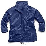 Regenjacke für Jungen und Mädchen in einer Tasche, 4–16Jahre Gr. 11-12 Jahre, navy