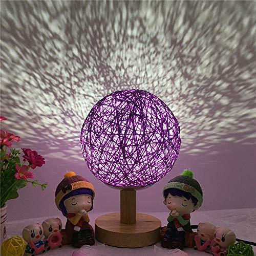 Star Lamp-Projektor, Rotierender Stern-Mond-Himmel-Projektor, romantische Babyraumlampe, Valentinstag-Geschenk Dimmbare Funktion, ideales Geschenk für Kinder und Kinder - rot