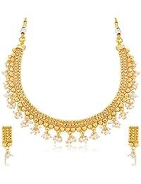 Sukkhi Jewellery Sets for Women (Golden) (N71262GLDPP1000)