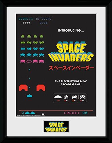 GB Eye Space Invaders, Werbung Gerahmter Druck, Mehrfarbig, 40x 30cm