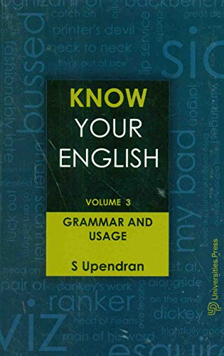 Know Your English - Vol. 3: Grammar and Usage
