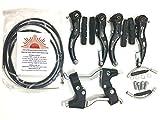 eRadius V-Brake-Set für BMX-Räder / Mountainbikes + Hebel aus einer Legierung + Kabel (vorne + hinten) + V-Brake-Zubehör, Bremssattel-Set
