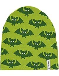 MAXOMORRA Jungen Mütze Grün Fledermaus Velour BioBaumwolle GOTS