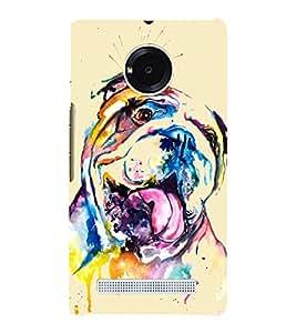 Dog Graffiti 3D Hard Polycarbonate Designer Back Case Cover for YU Yunique