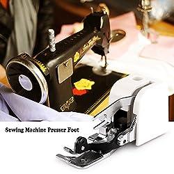 OurLeeme Side Cutter Machine à Coudre du Pied- Pieds Fixation d'accessoires pour Tous Low Shank Chanteur Janome Frère
