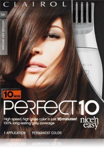 Clairol Perfect 10von Nice 'N Einfach Hair Color 005A Medium Ash Brown 1-Kit, 1.000-kit by Clairol Textures [Beauty] - Haarfarbe Clairol Ash