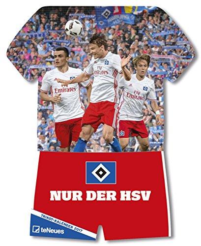 Preisvergleich Produktbild Hamburger SV 2017 - Fussball Kalender, Trikotkalender, Kalender HSV 2017  -  34 x 42 cm