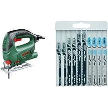 Bosch PST 650 - Sierra de calar con maletín (500 W, 240 V) color verde + 2 607 010 630 - Herramienta