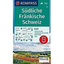 Südliche Fränkische Schweiz: 4in1 Wanderkarte 1:50000 mit Aktiv Guide und Detailkarten inklusive Karte zur offline Verwendung in der KOMPASS-App. Fahrradfahren. (KOMPASS-Wanderkarten, Band 171)