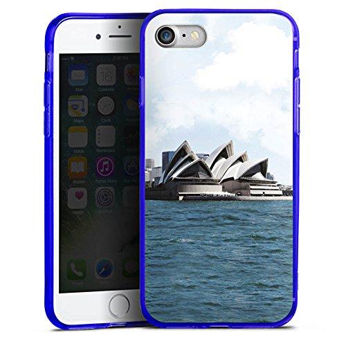 Apple iPhone 8 Silikon Hülle Case Schutzhülle Sydney Australien Opera House Silikon Colour Case blau