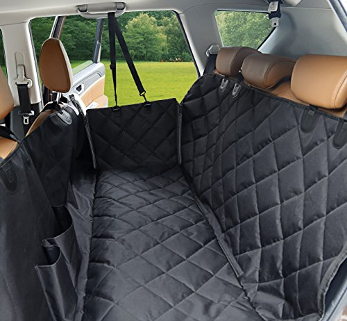 Dog Seat Cover With Flaps DSTANA Waterproof Car Covers For Dogs Scratch Proof Hammock Soft Nonslip Barrier Truck