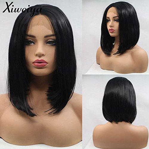 Xiweiya - Peluca corta pelo corto liso mujer negra