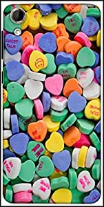 Snoogg Daily Candy Designer Protective Back Case Cover For HTC Desire 728