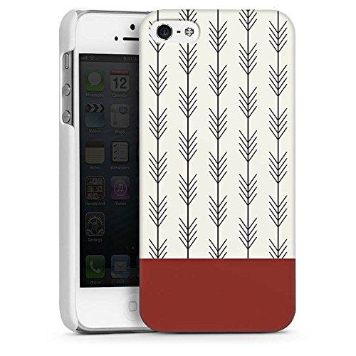 Apple iPhone SE Housse Outdoor Étui militaire Coque Ethnique Flèches Motif CasDur blanc