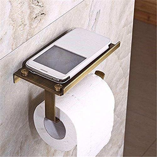 Messing Toilettenpapier Halter (Leidener TM Creative Multifunktions Messing antik Toilettenpapier-Halter mit Cover Selbst Wand montiert)