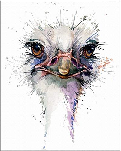 """7Dots Art. Babytiere. Aquarell-Kunstdruck/Poster, 20,3 x 25,4 cm, Dickes Aquarellpapier, für Kinderzimmer, Schlafzimmer, Bad. Wanddekoration, Tiere für Jungen und Mädchen. Modern 8""""x10"""" Strauß"""