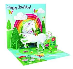 Carte d'anniversaire 3D pop-up Licorne