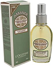 L'Occitane Smoothing & Beautifying Almond Supple Skin Body Oil, 3.3