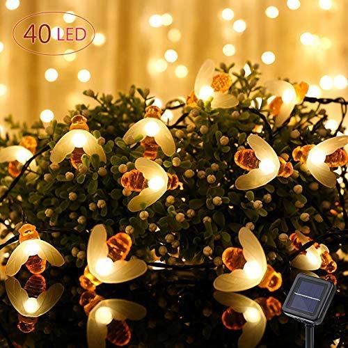 Led Lichterkette, Bienen Solar lichterkette aussen, Outdoor lichterkette, 30LEDs ()