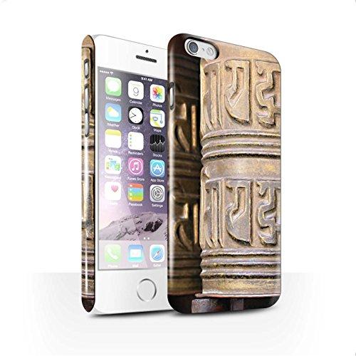 STUFF4 Glanz Snap-On Hülle / Case für Apple iPhone 6+/Plus 5.5 / Zen Statue Muster / Innerer Frieden Kollektion Gebetsmühle