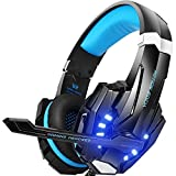 VersionTECH. Gaming Headset PS4, 3,5mm Stereo Wired Over-Ear-Kopfhörer mit Mikrofon LED-Licht in-Line Lautstärkeregler für PS4 New Xbox One PC Mac Laptop iPad und Smartphone
