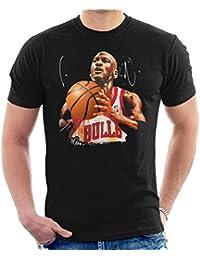 77c3ee606a3ce1 Sidney Maurer Original Portrait of Michael Jordan Bulls White Jersey Men s T -Shirt