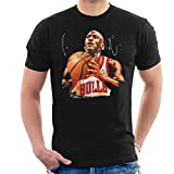 Sidney Maurer Original Portrait of Michael Jordan Bulls White Jersey Men's T-Shirt