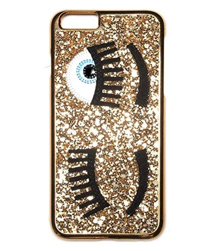Phone Kandy® Entwerfer-Art-Funkelnapplique-Auge Bling, das iPhone harte Fall-Abdeckung Shell Bling Sequins flirtet tascen (iPhone 5 5s SE, Gold)