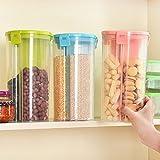 limbakshit Plastic Storage Box Jar Container - 1500 ml, Set of 3, Multicolour