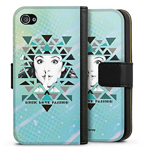 Apple iPhone X Silikon Hülle Case Schutzhülle Disney Violetta Fanartikel Merchandise Sideflip Tasche schwarz