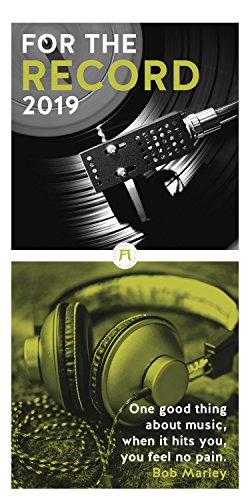 For the Record  -  der Vinyl Kalender 2019, Wandkalender im Hochformat (33x66 cm) - Lifestyle-Kalender für Musikliebhaber mit Monatskalendarium (Spanischen Stil Platten)