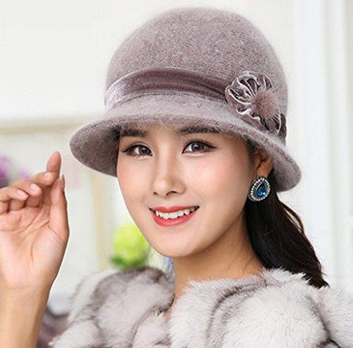 Dans le chapeau des personnes âgées Hiver Femmes Gardez Chapeau chaud tricot Mode Maman Basin Cap Old Lady Chapeau d'hiver Petit chapeau ( couleur : D ) C
