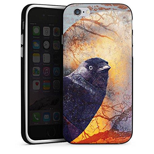 Apple iPhone X Silikon Hülle Case Schutzhülle Rabe Vogel Krähe Silikon Case schwarz / weiß
