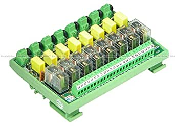 Shavison Relay Module AS425-230VAC-OE, 1C/O, 8 Channel, 230VAC Coil, OEN Relay, Directly Soldered Relay, Isolated Coils, Contact Rating : 28VDC/230VAC, 5A
