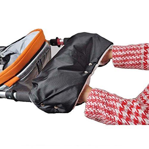 Boobor kinderwagen handschuhe Handwärmer Kinderwagenmuff Funktions-Handmuff mit Fleece Innenseite, Universalgröße für Kinderwagen, Buggy, Jogger, Radanhänger