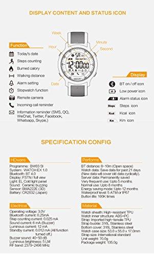 Kxcd-Bluetooth-Smart-Watch-EX18-Bluetooth-40-5-Bar-wasserdicht-kompatibel-mit-Android-iOS-System-Schrittzhler-zum-Schwimmen-Schlaf-berwachung-Anruf-SMS-Erinnerung-Armbanduhr