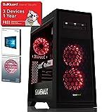ADMI GTX 1050 #GameReady GAMING PC: AMD FX-6350 4.2GHz Six Core Processor / NVIDIA GeForce GTX 1050 2GB GDDR5 Graphics Card / 16GB 1600MHz DDR3 RAM / 1TB Hard Drive / 500W PSU Bronze Rated / HD Audio / USB 3.0 / HDMI/4K Ultra HD Support / Game Max Titan Red LED Gaming Case / DVDRW 24x / Pre-Installed with Windows 10