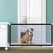 Dog Safety Gate Pet Safe Mesh Fence Portable Folding Baby Safety Gate Install Anywhere 180 * 72CM