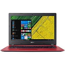 """Acer ASPIRE A114-31-C56D - Ordenador portátil de 14"""" HD (Intel Celeron N3350, 4 GB RAM, 32 GB eMMc, Intel HD 500, Windows 10 S) rojo - Teclado QWERTY Español [España]"""