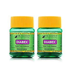 Dr. Vaidya's New Age Ayurveda | Diabex Pills | Ayurvedic Pills For Blood Sugar Control | 30 Pills Each (Pack of 2)