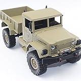 Tosbess 1:16 2.4G 4WD Ferngesteuertes Auto Fernbedienung Lastwagen Truck RC Geländewagen LKW Militärfahrzeuge Racing Spielzeug
