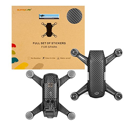 Preisvergleich Produktbild DS24 Aufkleber SET für DJI Spark in Carbon Schwarz für Body Arme und Batterie - 3M Aufkleber